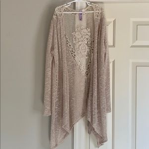 Francesca's, Cream lace cardigan